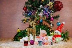 Cartoline d'auguri di Natale e del nuovo anno di festival Immagine Stock Libera da Diritti