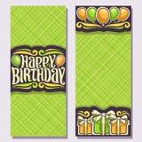 Cartoline d'auguri di vettore per la festa di compleanno royalty illustrazione gratis