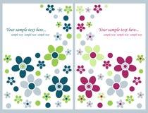 Cartoline d'auguri floreali Fotografia Stock