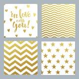 Cartoline d'auguri messe del fondo di scintillio dell'oro dei coriandoli illustrazione vettoriale