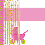 Cartoline d'auguri per la neonata Immagini Stock