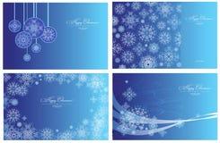 Cartoline di Natale Immagini Stock Libere da Diritti