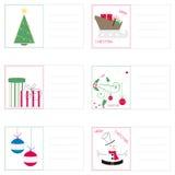 Cartoline di Natale Immagine Stock