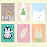 Cartoline di Natale illustrazione vettoriale