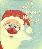 Cartoline di Natale con il Babbo Natale Immagine Stock