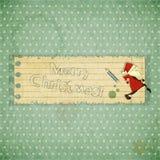 Cartoline di Natale con il Babbo Natale Immagini Stock Libere da Diritti