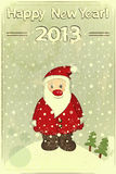 Cartoline di Natale con il Babbo Natale Fotografie Stock Libere da Diritti