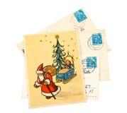 Cartoline di Natale di saluto Fotografia Stock