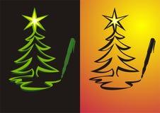Cartoline di Natale di scrittura illustrazione vettoriale