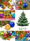 Cartoline di Natale differenti Fotografie Stock Libere da Diritti