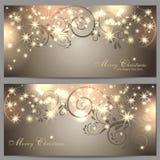 2 cartoline di Natale magiche Fotografia Stock Libera da Diritti