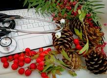 Cartoline di Natale mediche Immagine Stock