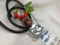 Cartoline di Natale mediche Fotografia Stock