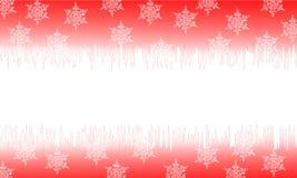 Cartoline di Natale rosse Fotografia Stock