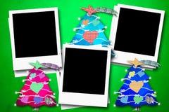 Cartoline di Natale tre strutture della foto Fotografie Stock Libere da Diritti