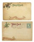 Cartoline di tema di natale dell'annata Fotografia Stock