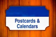 Cartoline e segno dei calendari Immagini Stock Libere da Diritti