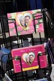 Cartoline reali di cerimonia nuziale Fotografie Stock