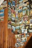 Cartoline in ristorante e nella cantina della birra a Roma Italia Immagine Stock