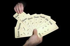 Cartomancy. Predicting the future through the cards Stock Photos