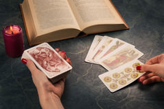 Cartomancy and future telling Stock Photos