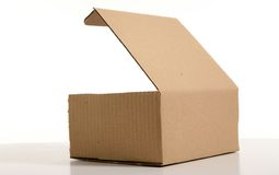 Carton. Box in carton on white background royalty free stock image
