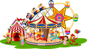 Carton amusement Park. Illustration of Carton amusement Park vector illustration