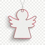 Carton Angel Price Sticker Transparent Photos stock