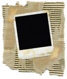Carton avec le polaroïd Images libres de droits