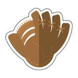 Carton baseball glove sport icon. Cartoon baseball glove sport icon  illustration eps 10 Stock Photo