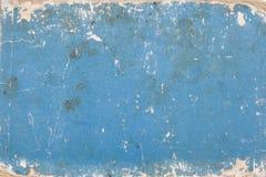 Carton bleu avec des repères d'âge images stock