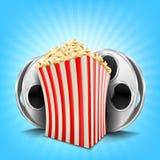 Carton bowl full of popcorn Royalty Free Stock Photography