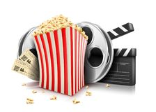 Carton bowl full of popcorn Royalty Free Stock Photos