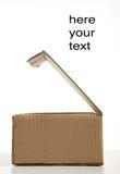 Carton box. On white background Stock Images