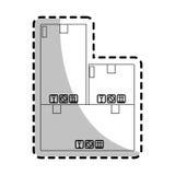 Carton box icon Stock Photo