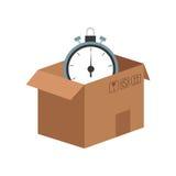 Carton box icon Royalty Free Stock Photos