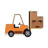 Carton box icon Stock Photos