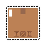 Carton box icon Royalty Free Stock Photography