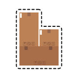Carton box icon Royalty Free Stock Image