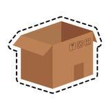 Carton box icon Royalty Free Stock Images