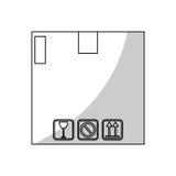 Carton box icon Stock Photography