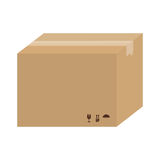 Carton box icon. With package symbols over white background. vector illustration Stock Images