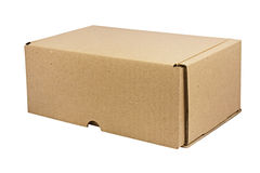 Carton box isolated. Royalty Free Stock Photography