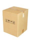 Carton box isolated on white background Stock Image