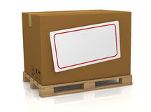 Carton box with label Royalty Free Stock Images