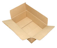 Carton box open and used. Carton box for transportation open and used Stock Photo
