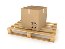 Carton box on a pallet. Stock Images