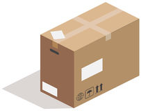 Carton box, vector Royalty Free Stock Image