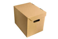 Carton box on white Royalty Free Stock Images