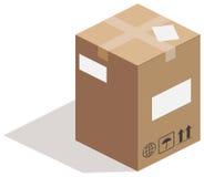 Carton box on white Royalty Free Stock Photos